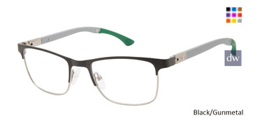 Black/Gunmetal Champion Hattrick Tween Champion Eyeglasses.