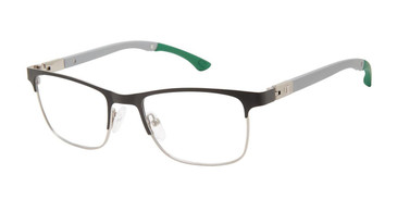 Black/Gunmetal c01 Champion Hattrick Tween Eyeglasses.