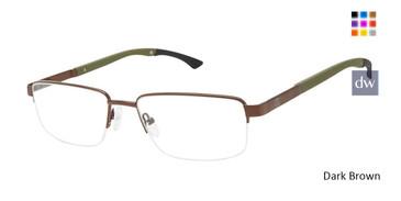 Dark Brown Champion Triad Eyeglasses.
