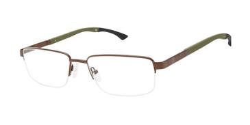 Dark Brown c02 Champion Triad Eyeglasses.