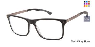 Black/Grey Horn Champion Tril Eyeglasses.