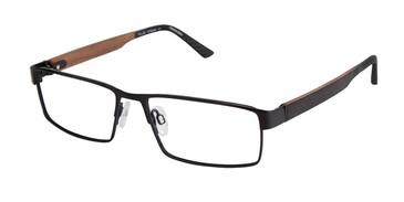 C03 Black Tlg NU004 Titanium Eyeglasses.