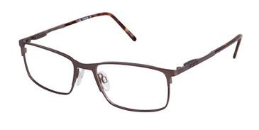 C03 Brown Tlg NU011 Titanium Eyeglasses.