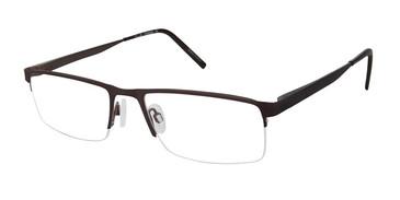 C02 Brown Tlg NU016 Titanium Eyeglasses.