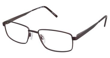 C02 Brown Tlg NU017 Titanium Eyeglasses.
