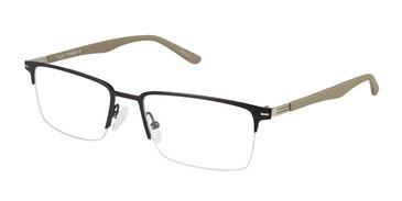 C01 Mt Black/Grey Tlg NU018 Titanium Eyeglasses.