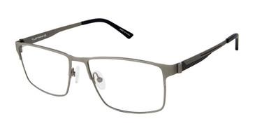 C01 Matte Gunmetal Tlg NU023 Titanium Eyeglasses.