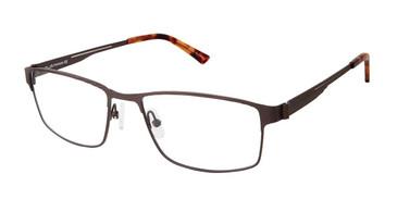 C02 Matte Brown Tlg NU024 Titanium Eyeglasses.