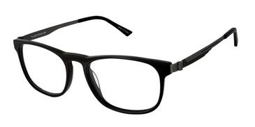 C01 Black/Gunmetal Tlg NU025 Titanium Eyeglasses.