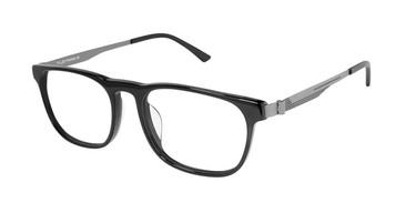 Black/Gunmetal Tlg NU025UF Tailored Fit TLG Eyeglasses.