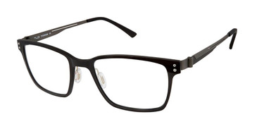 C01 Black Tlg NU030 Titanium Eyeglasses.