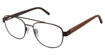 Dark Brown Tlg NU033 Eyeglasses.