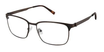 C02 Brown Tlg NU034 Titanium Eyeglasses.