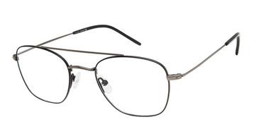 Black/Gunmetal Tlg NU036 Eyeglasses.