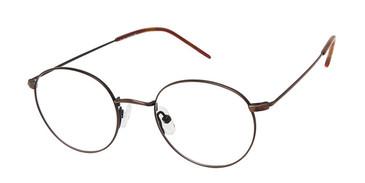 C02 Antique Gold Tlg NU037 Titanium Eyeglasses - Teenager