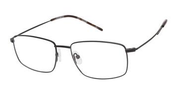C01 Matte Black Tlg NU038 Titanium Eyeglasses.