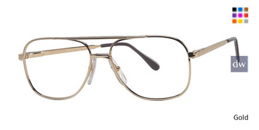 Gold L'Amy Paris Westport Eyeglasses.