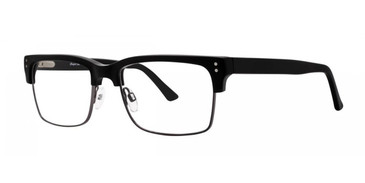 Black Comfort Flex Adam Eyeglasses.