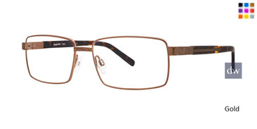 Gold Comfort Flex Larry Eyeglasses.