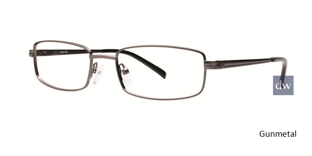 Gunmetal Comfort Flex Gavin Eyeglasses.