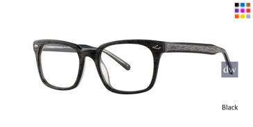 Black Comfort Flex Cassius Eyeglasses.