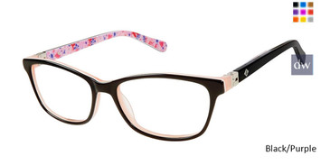 Black/Purple Sperry HARKEN Girls Tween Sperry Eyeglasses.