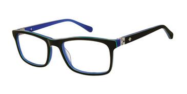Black/Navy Sperry RUDDER Boys Tween Eyeglasses.