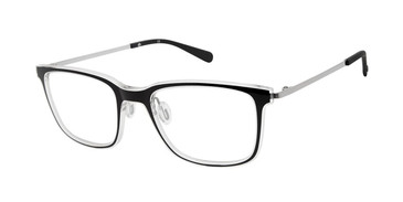 Black/Crystal Sperry HASLAR Eyeglasses.