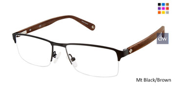 Mt Black/Brown Sperry Peaks Point Eyeglasses.