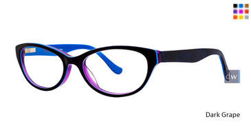 Dark Grape Kensie Alive Eyeglasses - Teenager