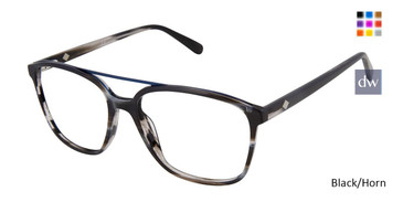 Black/Horn Sperry PIERVIEW Eyeglasses.