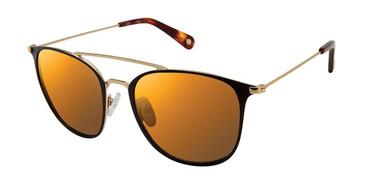 Black/Gold Sperry TIERRA Polarized Sunglasses.