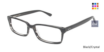 Black/Crystal Vision's 202 Eyeglasses.