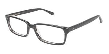 Black/Crystal (c01) Vision's 202 Eyeglasses.
