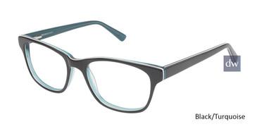 Black/Turquoise Vision's 205 Eyeglasses.