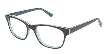 Black/Turquoise (c01) Vision's 205 Eyeglasses.