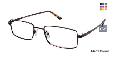 Matte Brown Vision's 215 Eyeglasses.