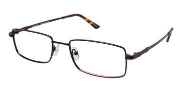 Matte Brown (c03) Vision's 215 Eyeglasses.