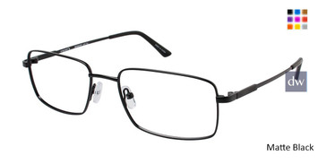 Matte Black Vision's 216 Eyeglasses.