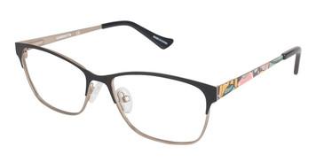 Matte Black/Gld (c01) Vision's 233 Eyeglasses.