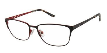 Black/Red (c01) Vision's 236 Eyeglasses.