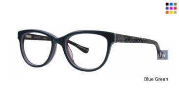 Blue Green Kensie Glamour Eyeglasses - Teenager