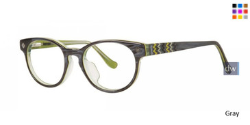 Gray Kensie Girls RX Zany Eyeglasses - Teenager