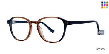 Brown Kensie RX Abstract Eyeglasses - Teenager