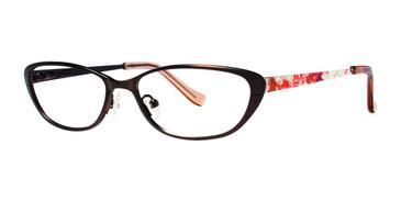 Brown Kensie RX Dramatic Eyeglasses