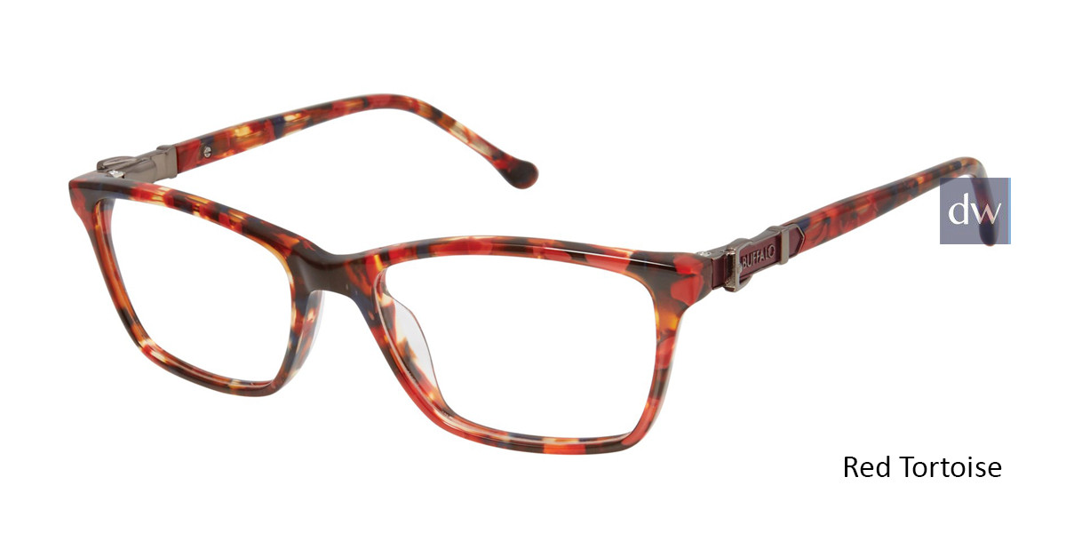 Red Tortoise Buffalo BW002 Eyeglasses - Teenager.
