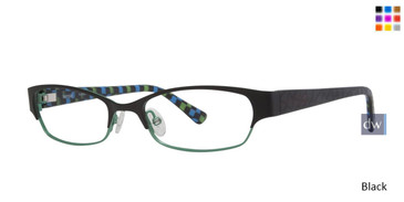 Black Kensie Frantic Eyeglasses