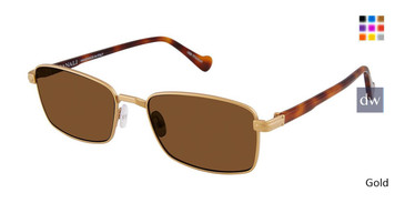 Gold Canali 220 Polarized Sunglasses.