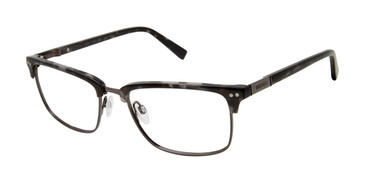Grey Tortoise Buffalo BM507 Eyeglasses.