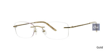 Gold Totally Rimless 250 Briolette Eyeglasses.